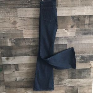 Banana Republic High Waist Wide Flare Jeans